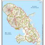 map of martinique island