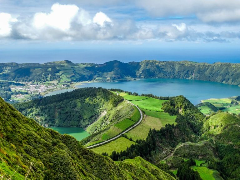 green landscape azores