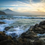 waves rock beach